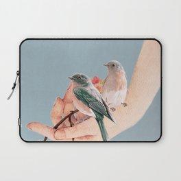 Birds on Hand Laptop Sleeve