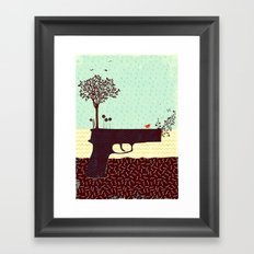 from bad seeds grows hope (part 3 of the 'guns' series) Framed Art Print