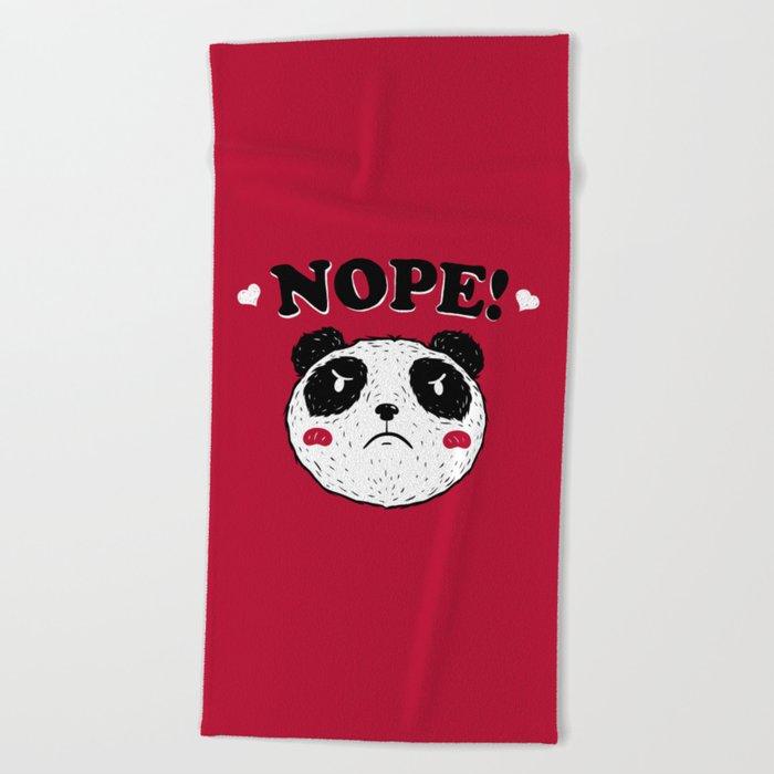 Nope Panda Beach Towel