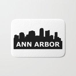 Ann Arbor Skyline Bath Mat
