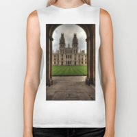 college Biker Tanks featuring Christ Church College, Oxford by Best Light Images