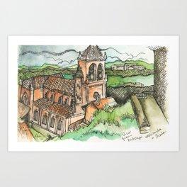 Camino de Santiago - Astorga Art Print