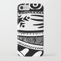 zentangle iPhone & iPod Cases featuring Zentangle by Wealie