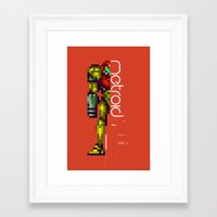 metroid Framed Art Prints featuring Metroid by Slippytee Clothing