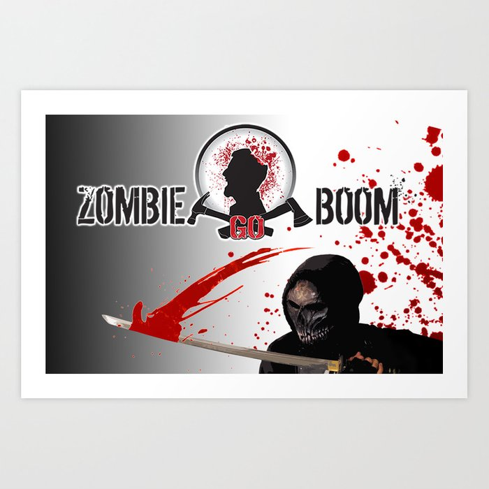 ZGB Zombie Go Boom Executioner with Katana  Art Print