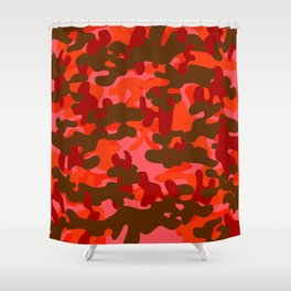 Camouflage (Red) Shower Curtain
