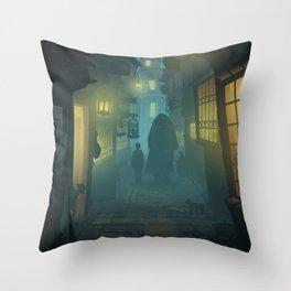 Diagon Alley Throw Pillow
