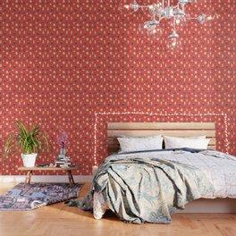 Antique glass bulbs drops orange Wallpaper
