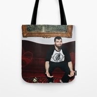 kevin russ Tote Bags featuring Kevin by moriahaslan