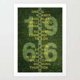 The Names of the 1966 Packers Art Print