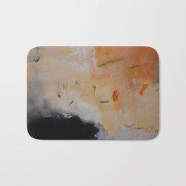 Rust black abstract art Bath Mat