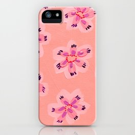 Coral Emily Claire iPhone Case