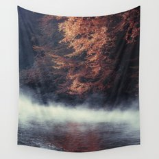 Nature's Mirror - Fall on the River Wall Tapestry