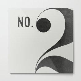 No. 2 Metal Print