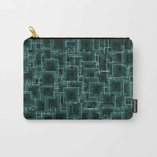 The Maze - Teal Carry-All Pouch