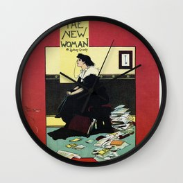 The New Woman, vintage Comedy Theatre london advert Wall Clock