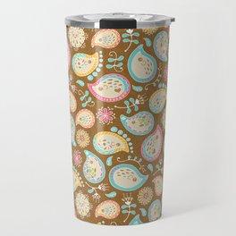 Hedgehog Paisley - Colors and Cocoa Travel Mug