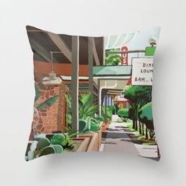 Cactus Cafe Throw Pillow