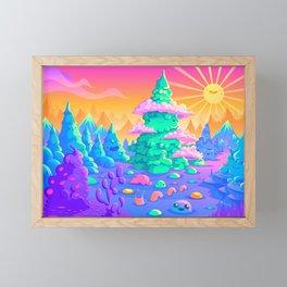 Blob Valley Framed Mini Art Print