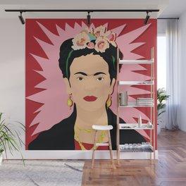 Frida Khalo (Red) | Bad Ass Women Series Wall Mural