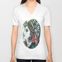 gypsy V-neck T-shirts featuring Gypsy by David Ansted, Kosoof.