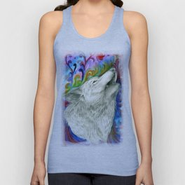 The colors of the Wolf Unisex Tank Top