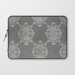 Vintage Damask - Charcoal Laptop Sleeve