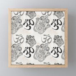 Hamsa Yoga Pattern Framed Mini Art Print