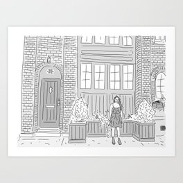 Carriage House Blues Art Print