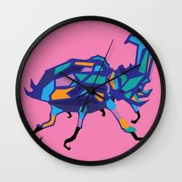 Brain Matter Beetle Wall Clock