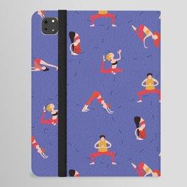 Yoga Girls blue lines iPad Folio Case