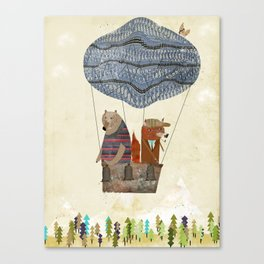 mr fox and bears wondrous adventure Canvas Print