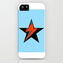 Bowie BlackStarDust (Blue) iPhone Case
