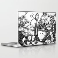 coffe Laptop & iPad Skins featuring Smile coffe by Kisava NiCh