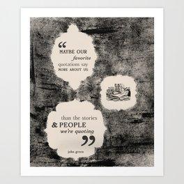 Quotations Art Print