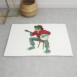 Banjo Playing Frog Rug