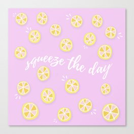 Squeeze The Day | Lemons Canvas Print