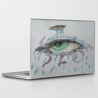 pain Laptop & iPad Skins featuring pain by Alyxka Pro