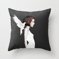 ruben Throw Pillows featuring Only You by Ruben Ireland