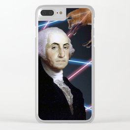 Rad George Washington Clear iPhone Case