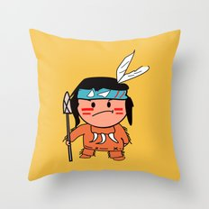 Little Red Indian Throw Pillow