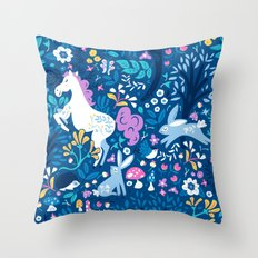 Woodland Folk Throw Pillow