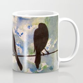Three Birds on the Line Coffee Mug