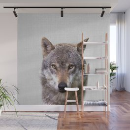 Wolf - Colorful Wall Mural