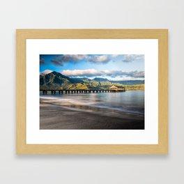 Hanalei Pier Kauai Framed Art Print