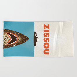 Zissou The Life Aquatic Beach Towel
