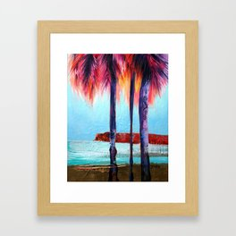 Pink and Purple Palm Tree Study, 2012 Framed Art Print