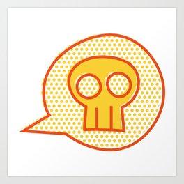 IGFKY Yellow Halftone Art Print
