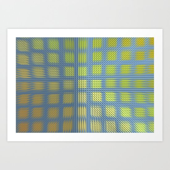Pointed Pattern Art Print