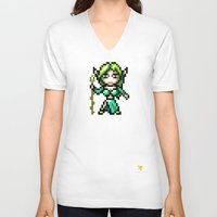elf V-neck T-shirts featuring Elf by HOVERFLYdesign
